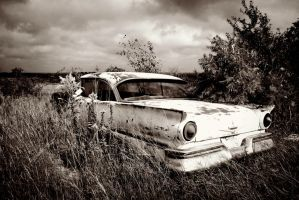 Waiting For Rain - Black and White by AndrewCarrell1969