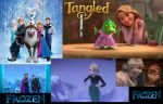 Frozen and Tangled Movie Wallpaper 1 by ESPIOARTWORK-102
