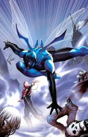 Blue Beetle 7 cover by PaulRenaud