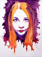 Watercolor Sketch - Annabella by Wreckluse
