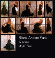 Black Action pack 1 by Nekoha-stock