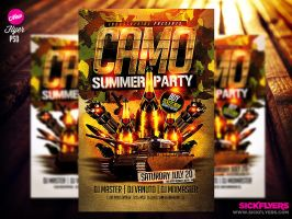Camo Party PSD Flyer Template by Industrykidz
