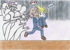 Leon an the Cloud Fans by Artistic-Tsuna