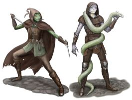 Snake Men by dashinvaine