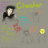 Chester sketches by demonic-black-cat