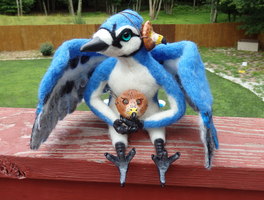 Blue Jester Art Doll by DancingVulture