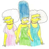 The Bouvier Sisters by TheSimpsonsFanGirl