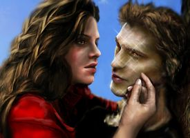 Edward and Bella detail by nicolebarker