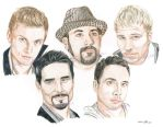 Backstreet Boys in Colour Pencils by everythingerika