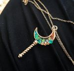Citrus charm [Resin Moon Wand] by SmexyViButt