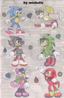 sonic riders classic forms by michelle-bandi-wolf