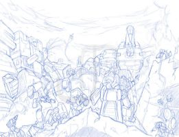 Final Battle Sketch by JavierReyes