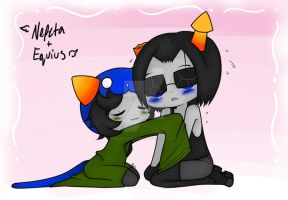 Equius and Nepeta by BlackenedAura