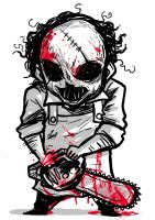 TEXAS CHAINSAW: LEATHERFACE by ChickenzPunk