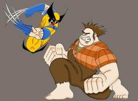 Wolverine Vs  Wreck it Ralph by Gilliland35