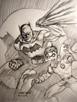 All Star Batman and Robin by myconius