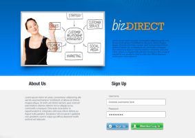 bizdirect website gui by eEl886