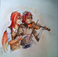 Violin lesson by KangooNoh