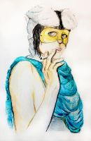 girl in mask by twillis