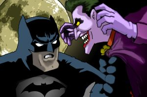 BATMAN vs THE JOKER by johnnyBgood007