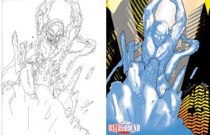 iceman colored by jon hughes by Sigint