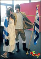 Greece and his mother Cosplay by YamatoTaichou