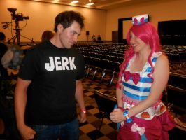 Dan vs Pinkie Pie 'What are you smiling at?' by enzio-72
