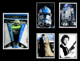 Star Wars Sketch Cards VII by AstroVisionary