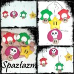 mario themed ornaments by spaztazm