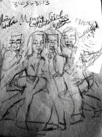 Mean Girls Cast Quicksketch by keh1016
