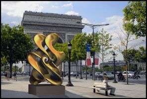 Sculpture at l'Etoile, Paris. by bjman