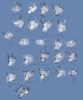 Face emotes by cloudstar-wolf