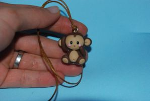 cute fimo monkey by Libellulina