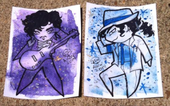 purple rain and smooth criminal by saltygirl