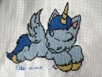 Sleepy eyes cross stitch by Santian69