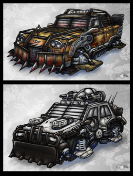 Sci-Fi Car Concepts by Mark-MrHiDE-Patten
