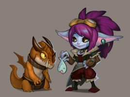 Dragon Trainer Tristana by Lonewingy