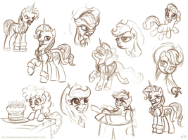 Random Pony Sketches 7 by KP-ShadowSquirrel