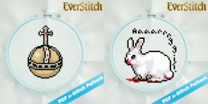 Monty Python Easter 2 Pack Cross Stitch Patterns by EverStitch