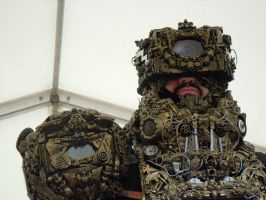 alien astronaut/ Ancient/Astronaut steampunk cybe by overlord-costume-art