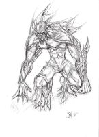 scalefang - pencil sketch by d3athb3rrymon