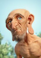 Hairy Old Guy by JoseAlvesSilva