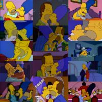 A compilation of Homer and Marge's kisses by WG2020TV