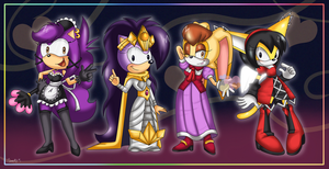 The Four tall lovely ladies by Domestic-hedgehog