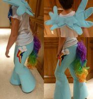 Rainbow Dash Satyr by ThundersCry