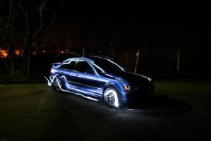 bmw e46 - 7 light painting by Lunox-baik