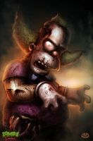 Zombie Simpsons: Krusty the clown by danosborne