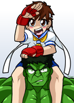 Sakura and The Hulk by rongs1234