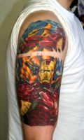 Iron Man tattoo by SOULLESSMONSTER