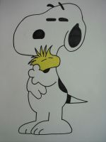 Snoopy and Woodstock by Forceuser77
